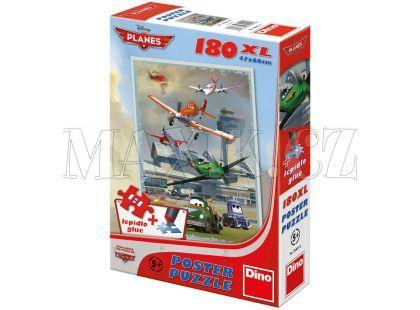 Dino Puzzle Poster Planes Hladké přistání 180XL dílků
