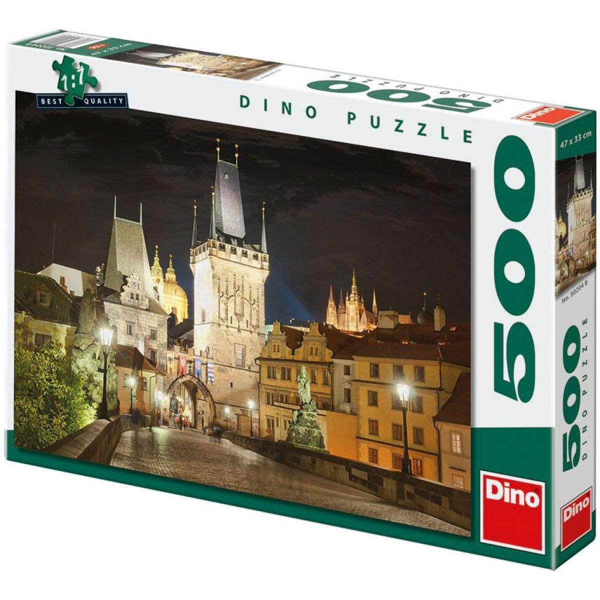 Dino Puzzle Praha v noci 500dílků