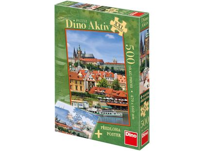 Dino Puzzle Pražský hrad 500 XXL dílků