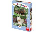 Dino Puzzle Psí kamarádi 2x48dílků