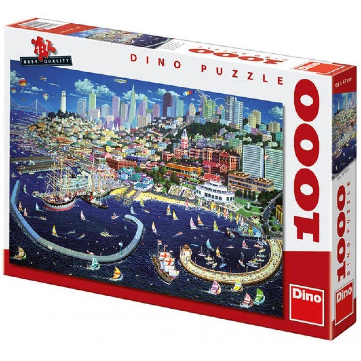 Dino Puzzle San Francisco 1000dílků