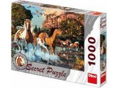 Dino Puzzle Secret Collection Koně 1000dílků