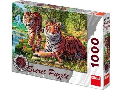 Dino Puzzle Secret Collection Tygři 1000dílků