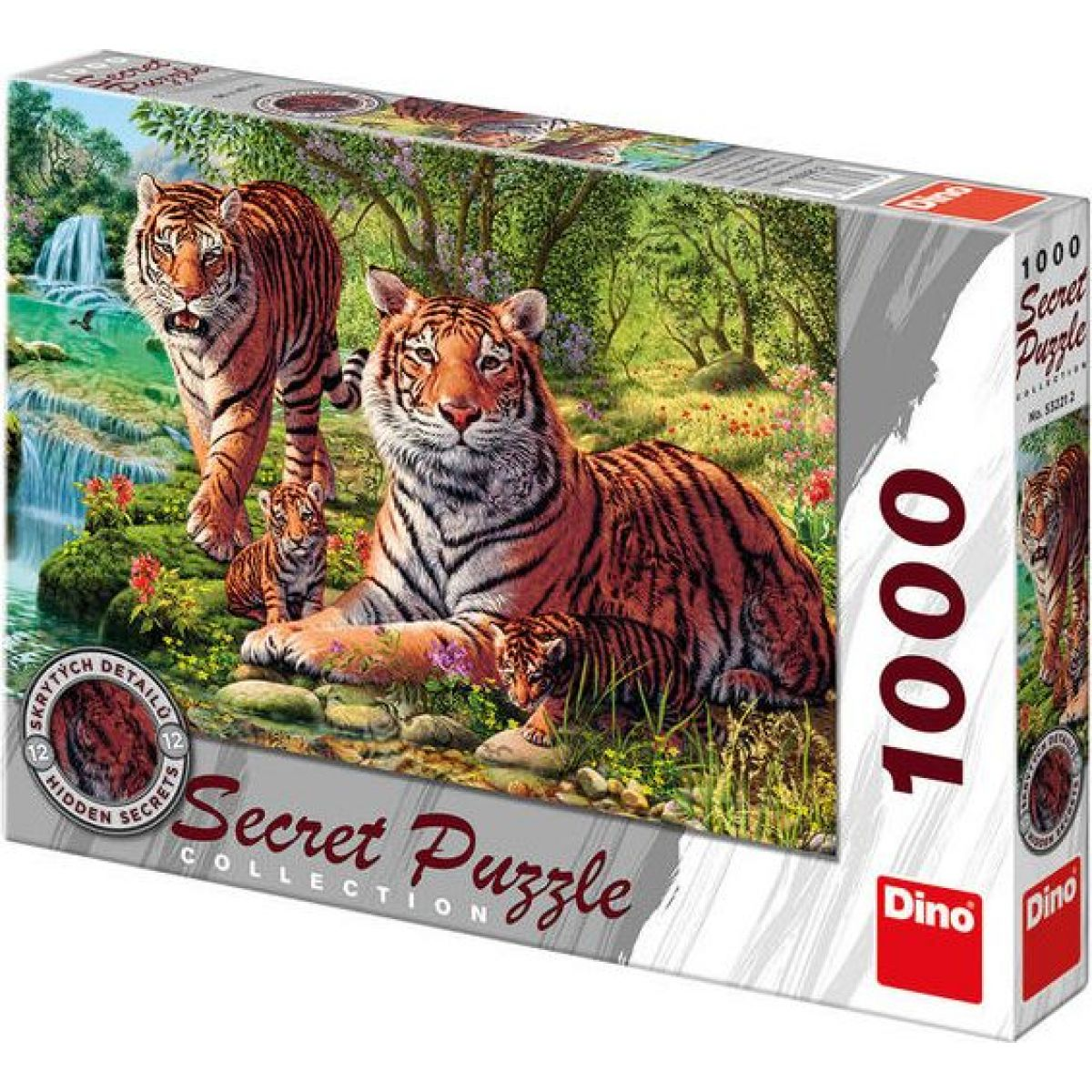 Dino Puzzle Secret Collection Tygři 1000dílků