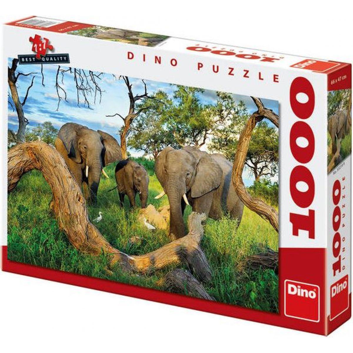 Dino Puzzle Sloni z Botswany 1000dílků