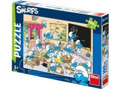 Dino Puzzle Šmoulové Ve Škole 100 XL dílků