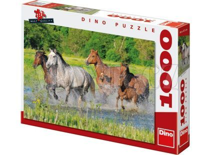 Dino Puzzle Stádo koní 1000dílků