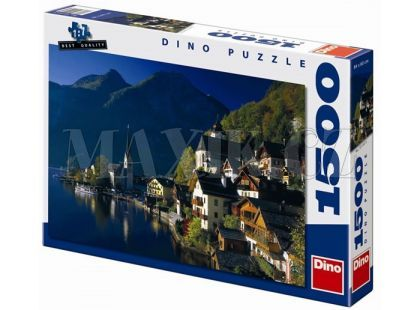 Dino Puzzle Vesnička u jezera 1500dílků