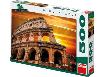 Dino Puzzle Západ slunce nad Koloseem 500dílků