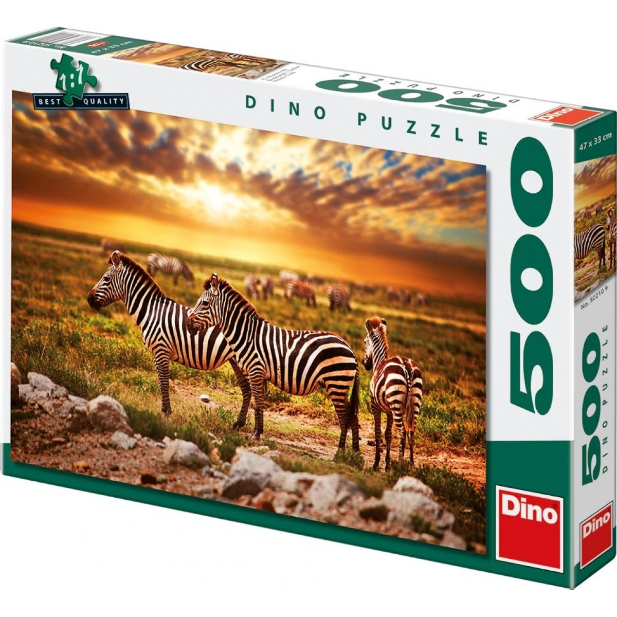 Dino Puzzle Zebry na poušti 500dílků
