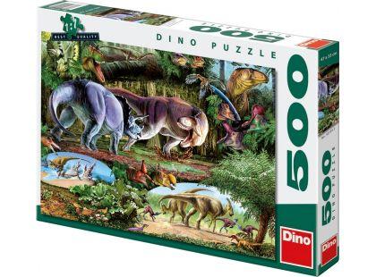 Dino Puzzle Země dinosaurů 500dílků