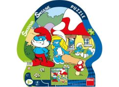 Dino Šmoulové Puzzle deskové Šmoulové volný den 21 dílků