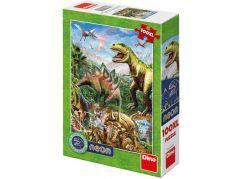 Dino Svět dinosaurů neon XL puzzle 100 dílků