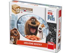 Dino Tajný život mazlíčků Dřevěné kostky 12ks