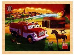 Dino Tatra dřevěné puzzle hasiči 20 dílků