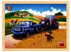 Dino Tatra dřevěné puzzle tahač 20 dílků