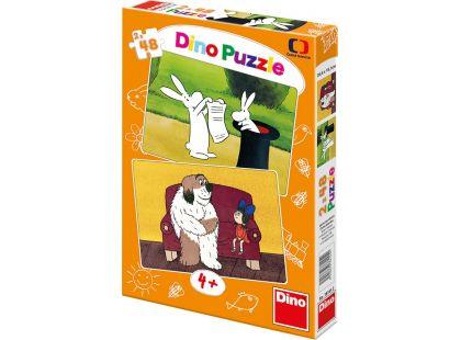 Dino Večerníček Puzzle Večerníčky 2x48dílků