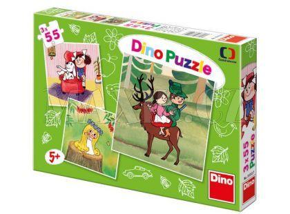 Dino Večerníček Puzzle České pohádky 3x55d