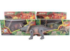 Dinosaurus 3 barvy chodící se zvukem
