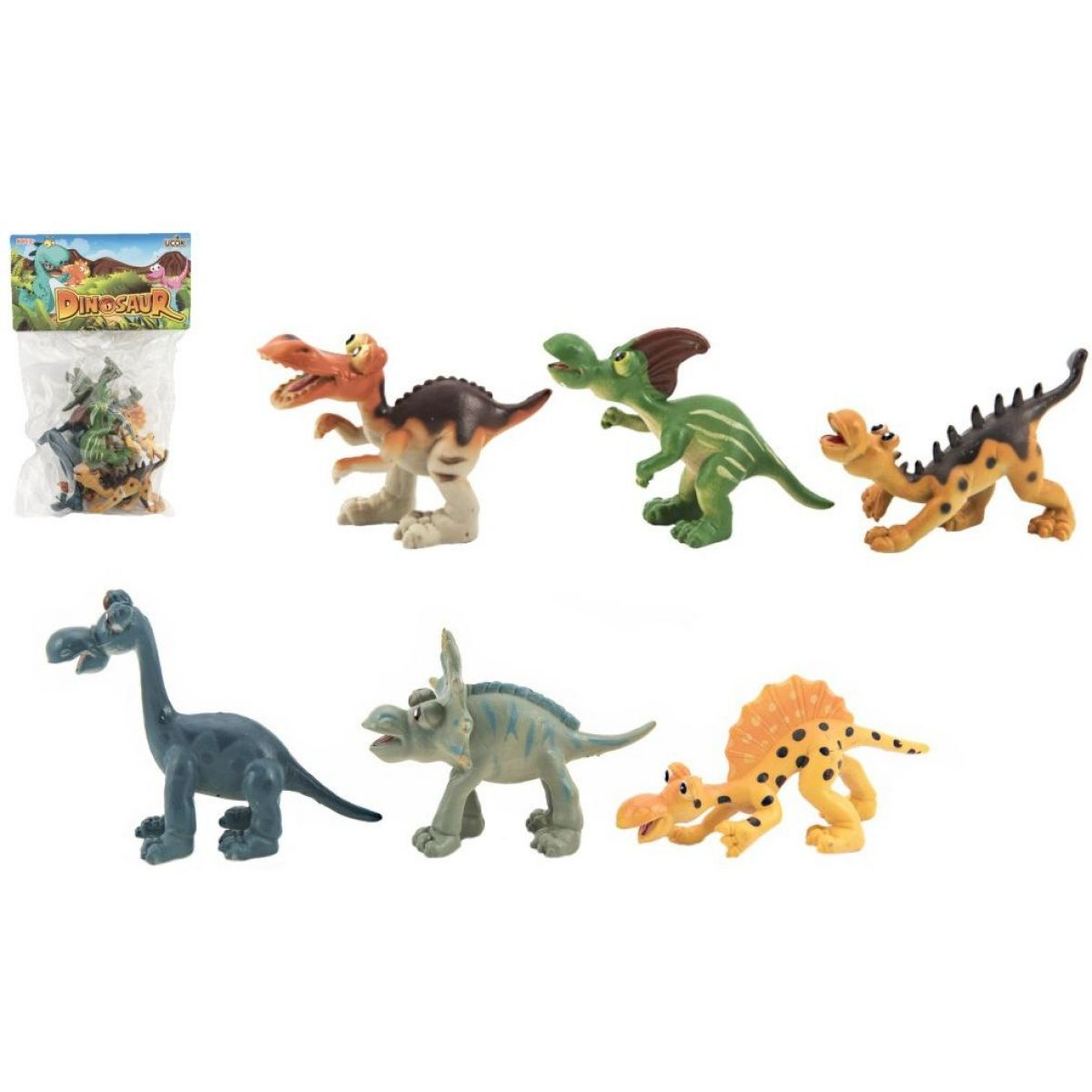 Dinosaurus plastový 6ks