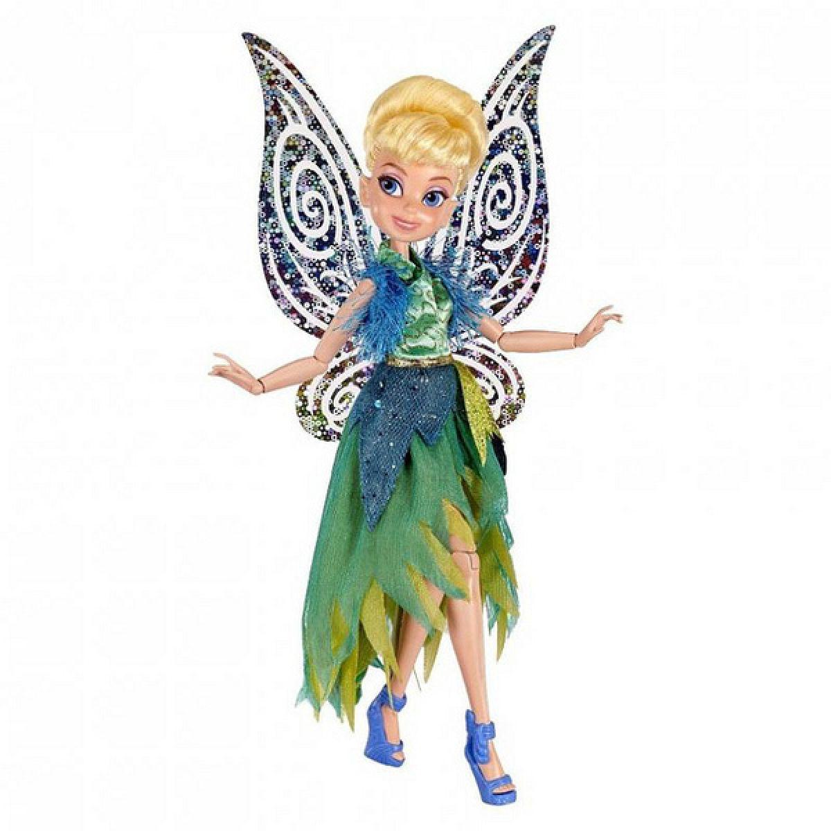 Disney Fairy 22cm Deluxe modní panenka - Tink v šatech