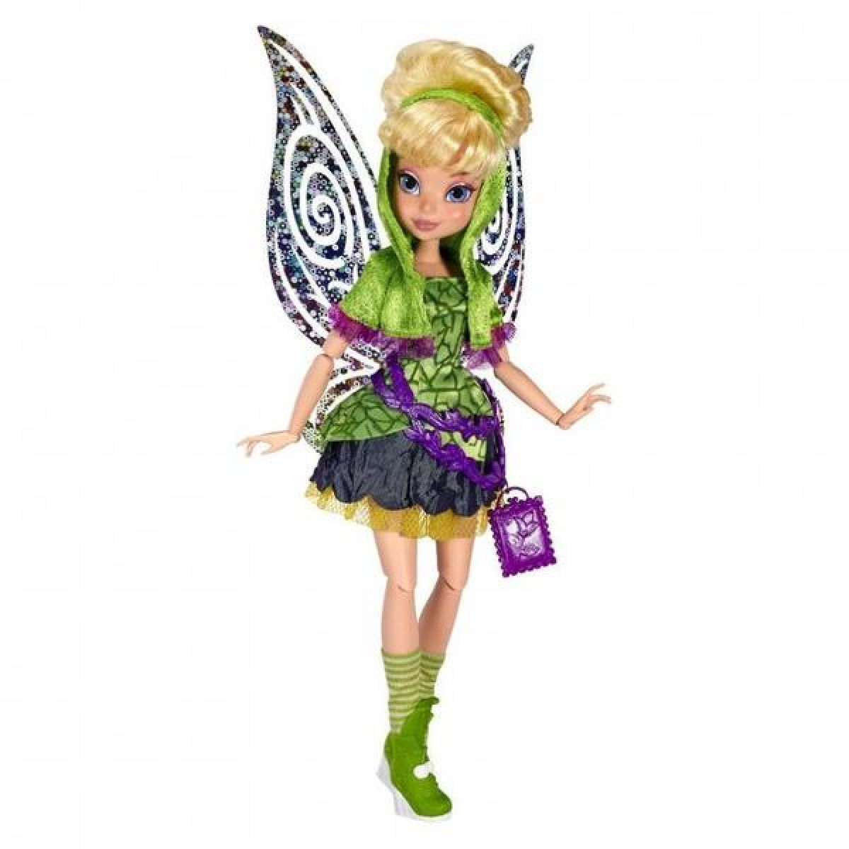 Disney Fairy 22cm Deluxe modní panenka - Tink v sukni