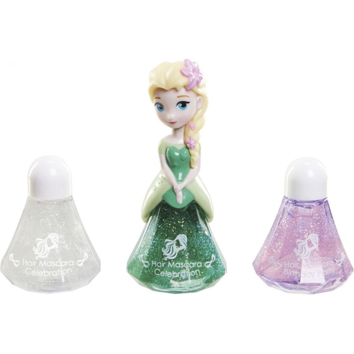 Disney Frozen Little Kingdom Make up pro princezny - Elsa zelená a řasenky na vlasy