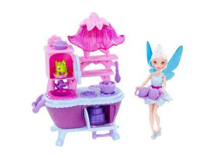 Disney Víly: 11 cm panenka a velký hrací set - Víla Modrovločka s kuchyňským setem