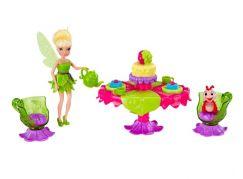 Disney Víly: 11 cm panenka a velký hrací set - Víla Zvonilka s párty setem