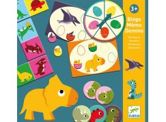 Djeco Bingo, pexeso a domino Dinosauři