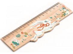 Djeco Dřevěné designové pravítko Lucille