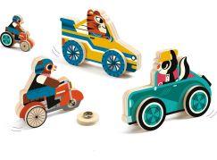 Djeco Dřevěné dopravní prostředky na patentky