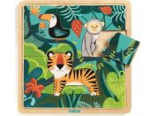 Djeco Dřevěné puzzle Tygr a přátelé