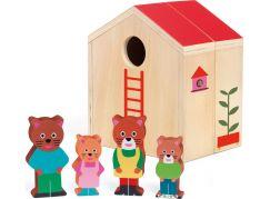 Djeco Dřevěný domeček pro kočičí rodinku