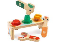 Djeco Dřevěný stůl pro malé kutily