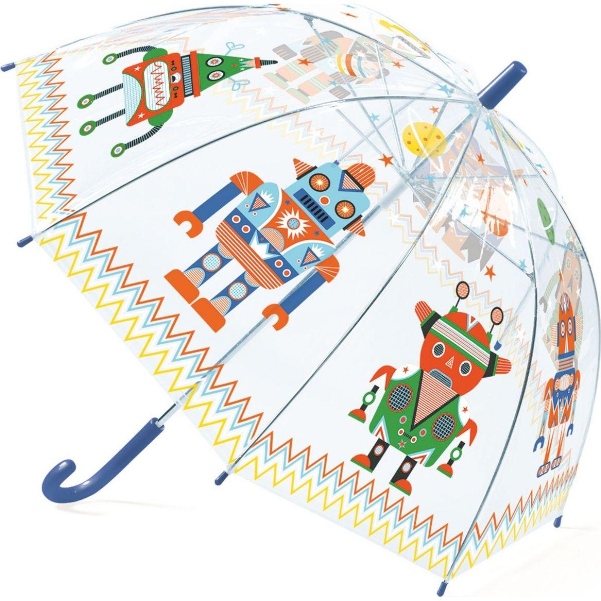 Djeco Krásný designový deštník Roboti