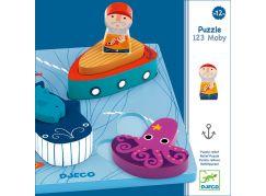 Djeco Mořský svět vkládací puzzle