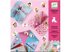 Djeco Origami skládačka nebe peklo ráj - dívčí