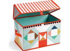 Djeco Pestrobarevná krabička na hračky Domeček