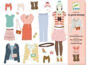 Djeco Sada Papírových panenek a doplňků Velká šatna