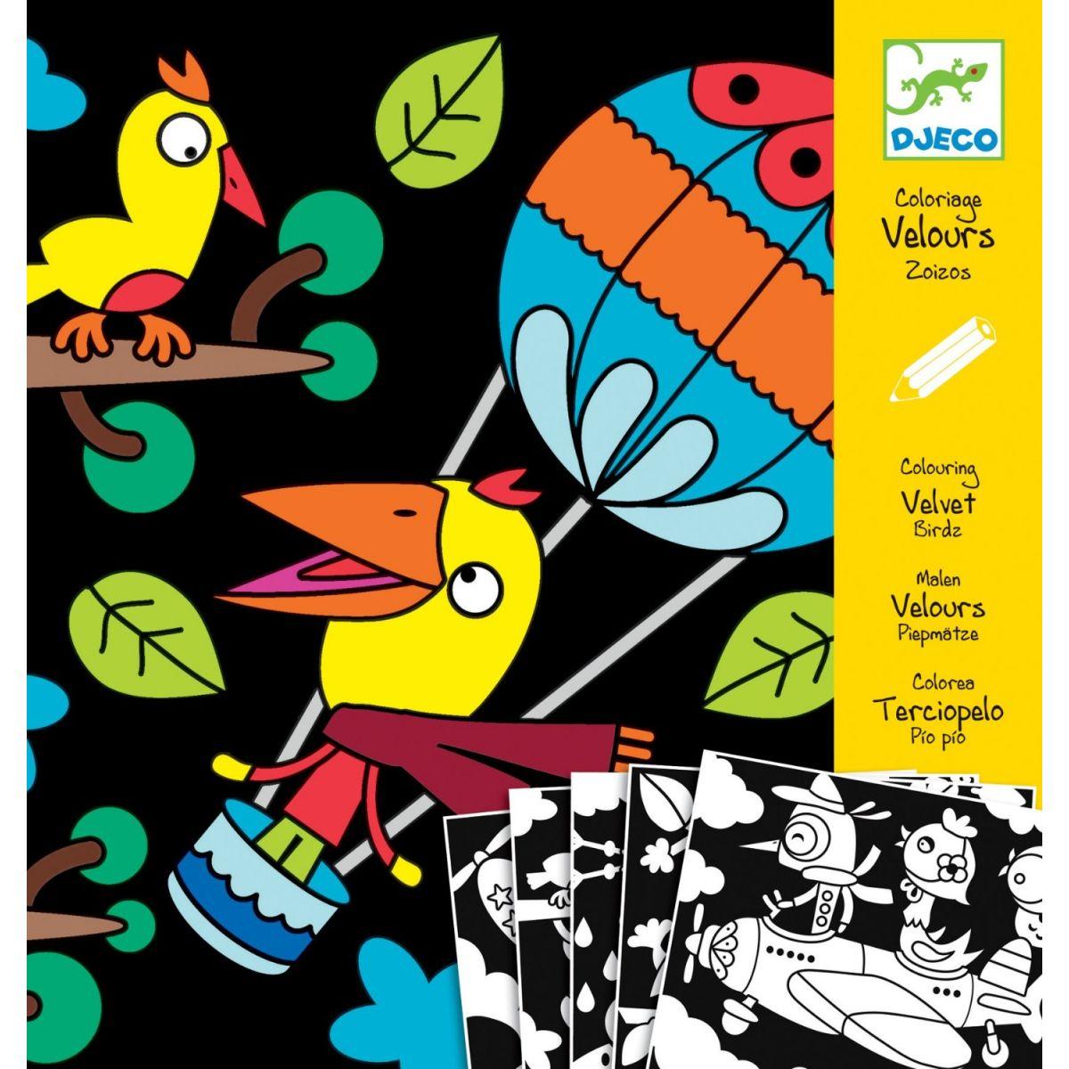 Djeco Sametové malování Ptáčci