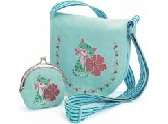Djeco Set kabelka a peněženka Modrá kočička  - Poškozený obal