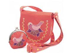 Djeco Set kabelka a peněženka Růžová holubice