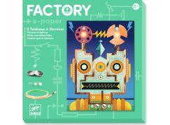 Djeco Světélkující obrázky Roboti