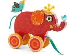 Djeco Tahací hračka Červený slon