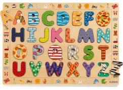 Djeco Vkládací puzzle abeceda se zvířátky