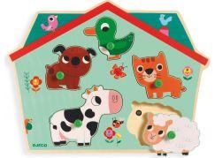 Djeco Vkládací puzzle Domací zvířátka