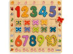 Djeco Vkládací puzzle Počítaní s motýlky