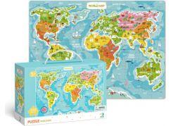 DoDo Puzzle Mapa Světa 100 dílků