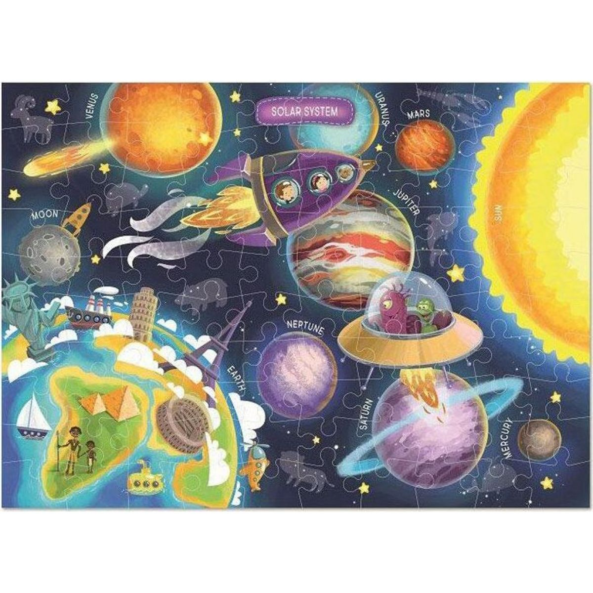 DoDo Puzzle Vesmír 100 dílků